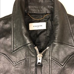 Gorgeous Calf Skin Leather COACH Jacket